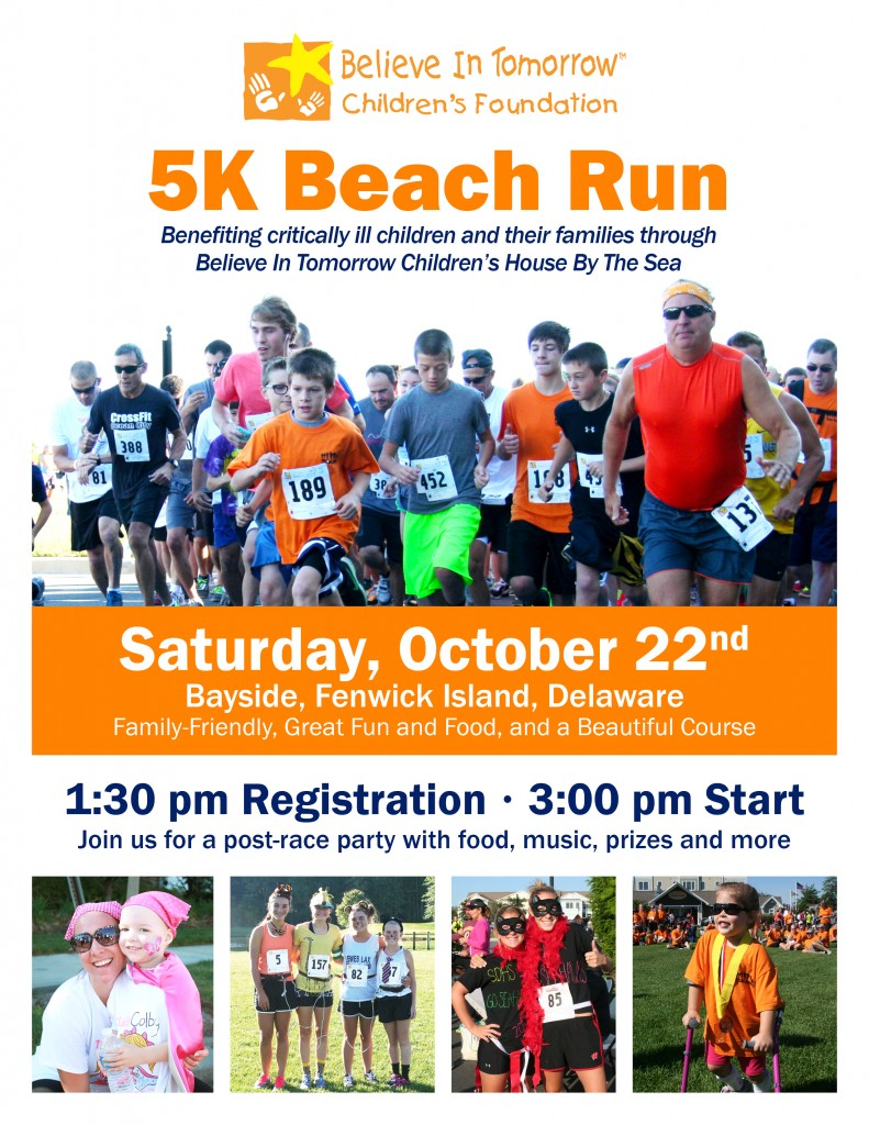 Believe In Tomorrow, 5K Beach Run