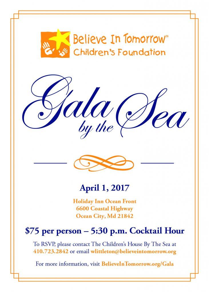 Gala By The Sea Invite